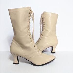 Funtasma Victorian Cream Lace up Boots Size 13